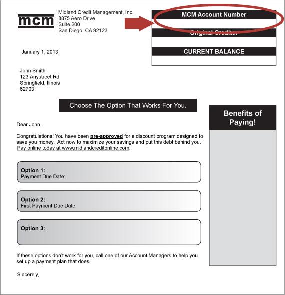 Midland Funding LLC Letter of Deletion