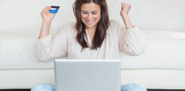 Excited Debt Free Woman
